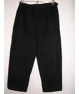 ann taylor classic black stretch cotton cropped... - $24.74