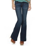 sexy flare stretch retro blue denim cotton bell... - $24.74