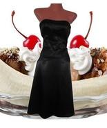 retro rockabilly strapless prom corset midi bla... - $24.74