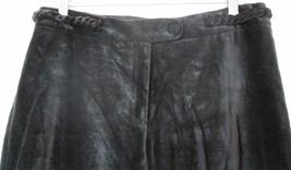 h & m black velvet braided wide leg pants size 8 medium large formal cotton - $24.74