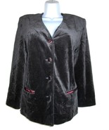 1970s vintage black velvet tuxedo disco blazer evening jacket size 8 10 ... - $24.74