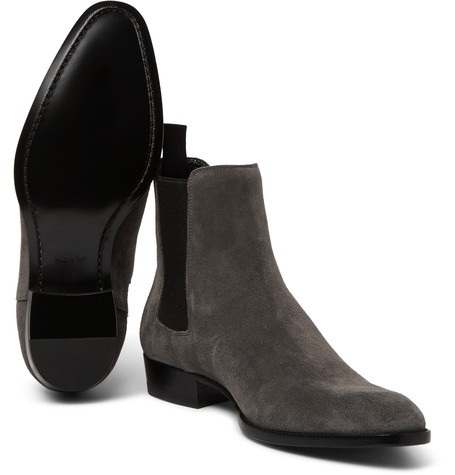 New Handmade men Black ankle high boot, Men suede boots, Mens fashion ankle boot