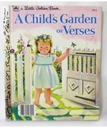 little golden book a child's garden of verses 1957 hardcover Nursery Rhymes - $10.88