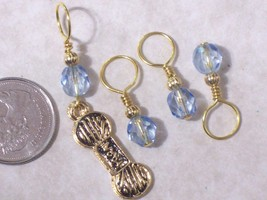 knitting stitch markers, 6.5mm, gold pewter yar... - $8.99