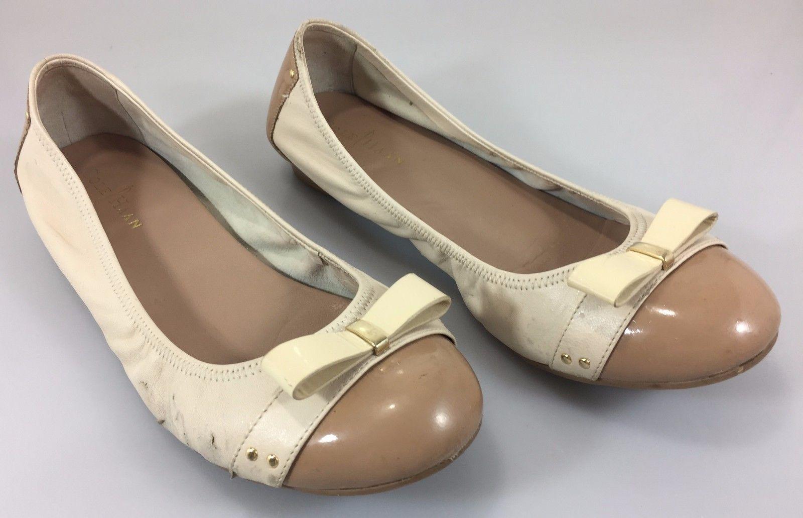 99164c8f0c24 Cole Haan 9.5b Women Flats Tan   Cream Nike Air Soles -  29.99