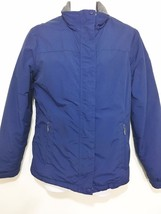 L.L. Bean Womens S Blue Fleece Lined Waterproof Jacket - $40.40