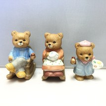 Lot of Three Vintage HOMCO (Home Interiors) Rocking Chair Bears and Baby... - $6.81