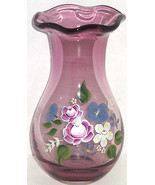 Fenton Amethyst Glass Vase Teleflora Gift Floral Flowers  - $59.95