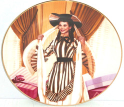 Gone with the Wind Collectors Plate Scarlets Shopping Spree Bradford Exc... - $59.95