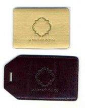 La Mansion Del Rio Leather Name Tag & Folding Address Book San Antonio T... - $34.61