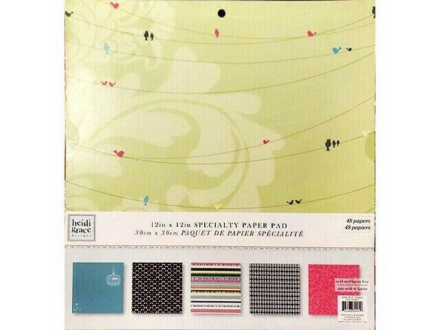 Heidi Grace Designs 12x12 Cardstock Specialty Paper Pad #60995