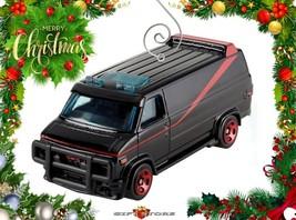 RARE CHRISTMAS ORNAMENT BLACK GMC GM PANEL VAN G10 G20 A-TEAM CUSTOM LTD... - $39.98