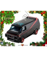 RARE CHRISTMAS ORNAMENT BLACK GMC GM PANEL VAN G10 G20 A-TEAM CUSTOM LTD... - $31.98