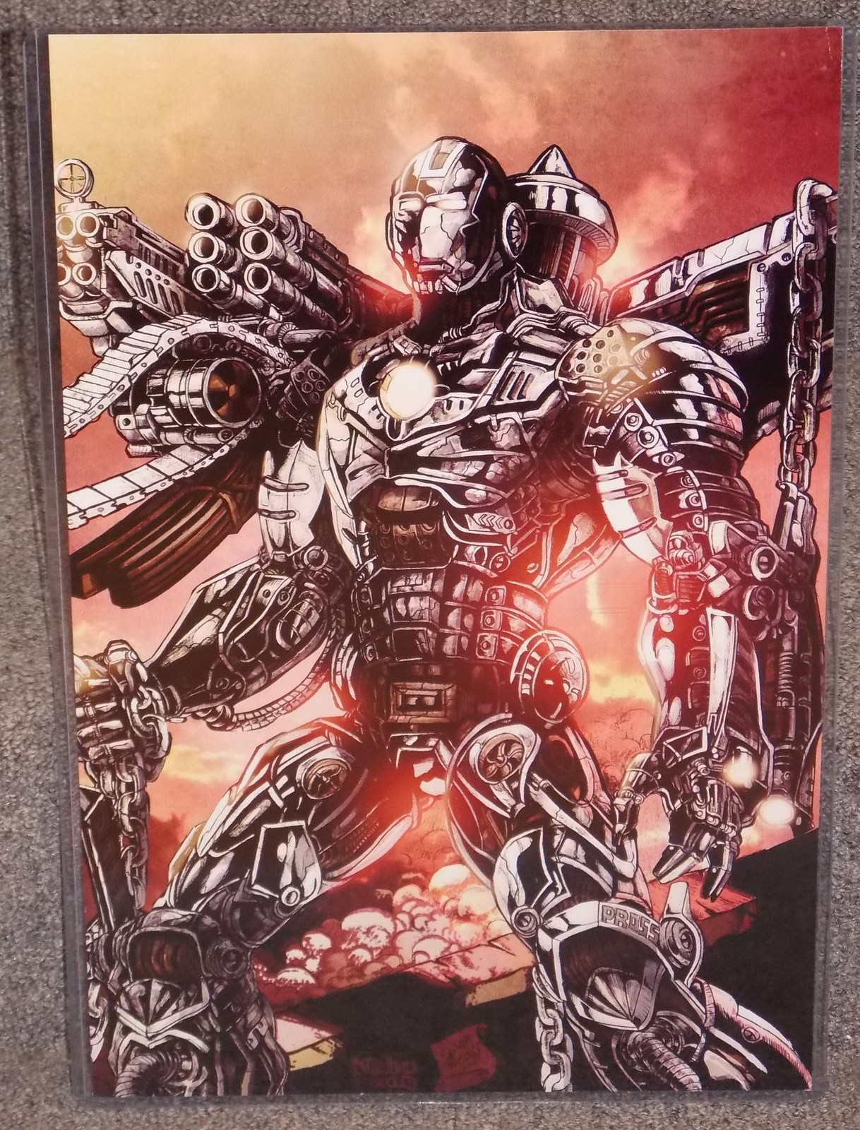Primary image for Marvel Iron man War Machine Glossy Print In Har Plastic Sleeve