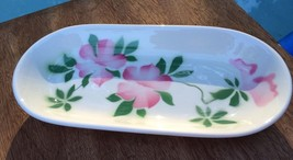 RARE Airbrush Pink Floral 1950s Vintage Syracuse China Restaurant Ware O... - $34.27