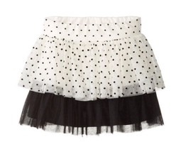 "KATE MACK GIRLS BLACK AND WHITE POLKADOT ""TUTU"" SKIRT SZ8 BNWT $70 - $18.99"