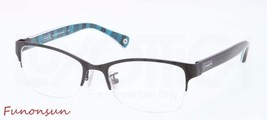 COACH MONTANA HC5038 9077 SATIN BLACK RIMLESS EYEGLASSES AUTHENTIC FRAME - $66.93