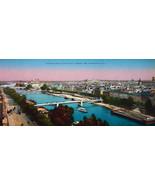PARIS in 1900s Beautiful Chromotype Photo - Panorama Seine River Ile St.... - $21.60