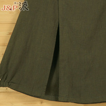 Women A Line Cotton Linen Skirts Linen Casual Skirt, Army Green Navy,  One Size image 7