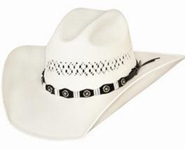 Bullhide Justin Moore Small Town USA 100X Shantung Panama Straw Cowboy N... - $78.00