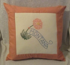 "Montana State Flower Throw Pillow - 16"" - $16.00"