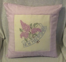 "New Hampshire State Flower Throw Pillow - 16"" - $16.00"