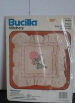 BUCILLA Stitchery Romance Pillow kit 49430 Sealed 12'  square plus ruffle - $11.29