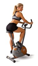 Upright Magnetic Cycle Exercise Stationary Bike Fitness Cardio Home Gym ... - $155.00