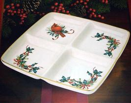 Syracuse china dish 3 listings lenox winter greetings 4 section divided dish square server cardinal bird new 2990 m4hsunfo