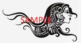 TRIBAL HAIRED LADY CROSS STITCH CHART - $10.00