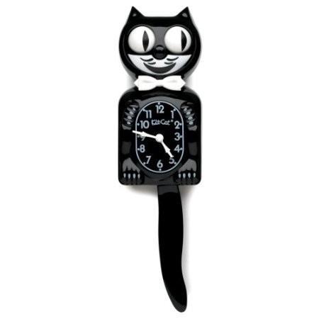 The Original Classic Kit Cat Klock - Black Wall Clock