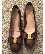 Salvatore Ferragamo Women's Brown Heels W/ Bow - $79.99