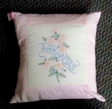 "Arkansas State Flower Throw Pillow - 16"" - $16.00"