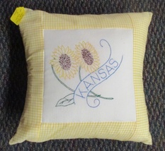 "Kansas State Flower Throw Pillow - 16"" - $16.00"