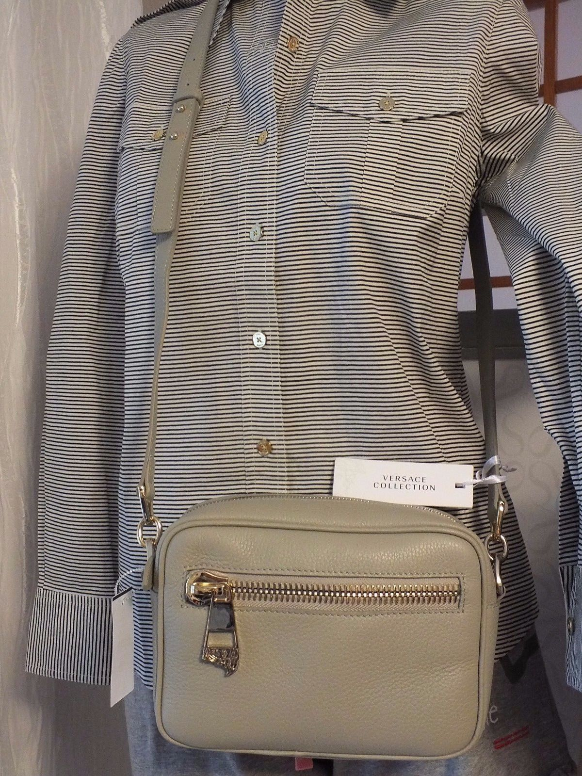 3320e3b945 Versace Collection Cross Body Bag in Grey and 50 similar items
