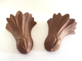Vintage Ceramic Brown Wall Sconce Pocket Planter Set Of 2 - $24.99