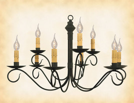 """2-Tier Colonial Metal Chandelier """"Adams"""" Handmade 9 Hand Hammered Candle Arms - $367.45"""
