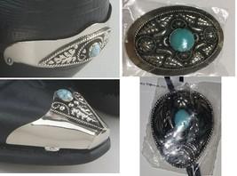 Set of Western Cowboy Boot heel & Tip, Belt Buc... - $113.84