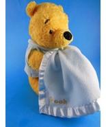 "Winnie The Pooh Disney Baby Plush Rattle & Blue Blanket 9""  by Gund Ador... - $10.39"