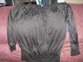 Faded Glory Crinkle Peasant Blouse Size 4X (26W-28W) Women's  NEW HTF  - $36.99