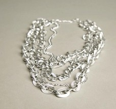Silver Chain Link Necklace Vintage Jewelry made in Germany - $49.50