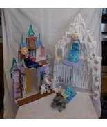 Disney Frozen 2 N 1 Elsa Anna Castle Ice Palace With Elsa Anna Olaf & More - $28.02