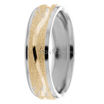 10K Gold Two Tone Wedding Bands Rings Mens Womens Two Tone Wedding Bands... - $322.58