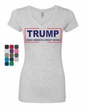 Trump Make America Great Again Women's V-Neck T-Shirt MAGA 2020 USA Pres... - $15.87+