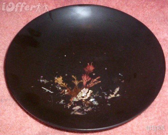 Eames era mid century modern couroc abalone bowl 4a21