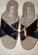 Steve Madden Hassie Women Platform Slip On Open Toe SANDAL/ESPADRILLE/ARRAN - $44.99
