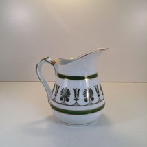 Richard Ginori Ercolano Green Creamer (Jug) 4 1/4 Inches  - $27.07