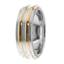 Two Tone 10K Gold Wedding Bands Rings, Mens Womens Wedding Bands Rings 1... - $322.58