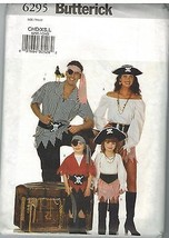6295 Vintage Butterick Sewing Pattern Childrens Pirate Costume 2 - 6 Hal... - $4.94