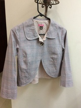 Plaid and Printed Colors Short Blazer Medium, One Button, Long  Sleeve C... - $8.50